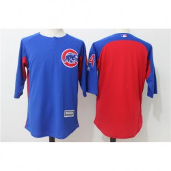 Anthony rizz chicago cubs majestic authentic collection on-field 3/4-sleeve player batting practice jerse