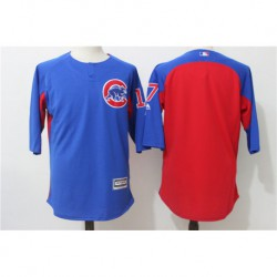 Kris bryant chicago cubs majestic authentic collection on-field 3/4-sleeve player batting practice jerse