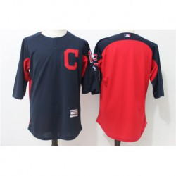 Francisco Lindor Cleveland Indians Majestic Authentic Collection On-Field 3/4-sleeve player batting practice jerse
