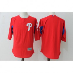 Maikel franco philadelphia phillies majestic authentic collection on-field 3/4-sleeve player batting practice jerse