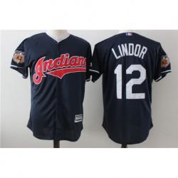 Francisco Lindor Cleveland Indians Majestic 2017 Spring Training Cool Base Player Jerse