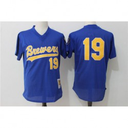 Robin yount milwaukee brewers mitchell & ness cooperstown collection mesh batting practice jerse