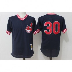 Joe Carter Cleveland Indians Mitchell & ness 1986 authentic cooperstown collection mesh batting practice jerse