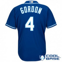 Joe 4alex gordon kansas city royals majestic official cool base player jersey - white/Royal,kansas city royal