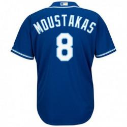 Joe 8 mike moustakas kansas city royals majestic alternate official cool base player replica jersey - royal,kansas city royal