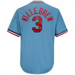 Joe 3harmon killebrew minnesota twins majestic cool base cooperstown collection player jersey - light blue,minnesota twin