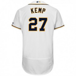 Joe 27 matt kemp san diego padres majestic home flex base authentic collection player jersey - white,san diego padre