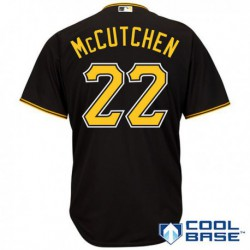 Joe 22 andrew mccutchen pittsburgh pirates majestic cool base player jersey - black,philadelphia phillie