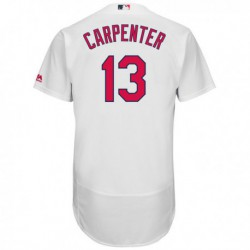 Joe 13 matt carpenter st. louis cardinals majestic home flex base authentic collection player jersey - white,st. louis cardinal