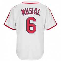 Joe 6stan musial st. louis cardinals majestic big & tall cooperstown cool base player jersey - white,st. louis cardinal