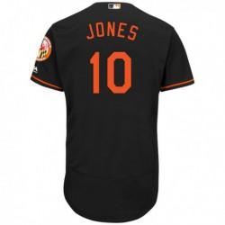 Joe 10 adam jones baltimore orioles majestic alternate flex base authentic collection player jersey - Black,cleveland Indian