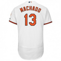 Joe 13manny machado baltimore orioles majestic home flex base authentic collection player jersey - white,texas ranger