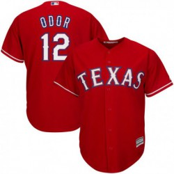 Joe 12 srougned odor texas rangers majestic cool base player jersey - white/Red/Royal,texas ranger