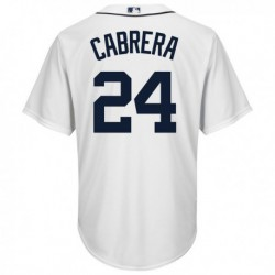 Joe 24 miguel cabrera detroit tigers majestic cool base player jersey - white,detroit tiger