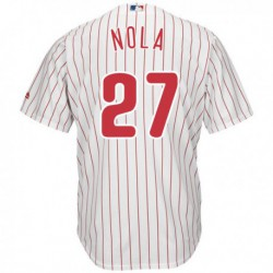 Joe 27 aaron nola philadelphia phillies majesticofficial cool base player jersey - white,philadelphia phillie