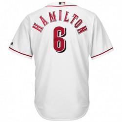 Joe 6 billycincinnati reds majestic youth cool base player jersey - white,cincinnati red