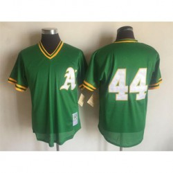 Joeoakland athletics mitchell & ness cooperstown mesh batting practice jersey - green,oakland athletic