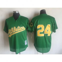 Joe rickey henderson oakland athletics mitchell & ness 1998 cooperstown mesh batting practice jersey - green,oakland athletic
