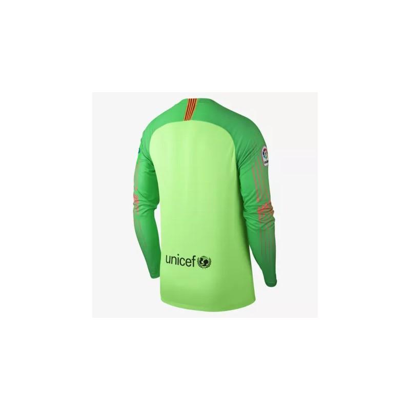 Fc Barcelona Green Kit Barcelona Green T Shirt 2018 2019 Barcelona Green Goalkeeper Long Sleeve Soccer Jersey
