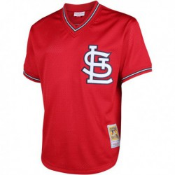 Joe 1 ozzie smith st. louis cardinals mitchell & ness cooperstown mesh batting practice jersey - red,st. louis cardinal