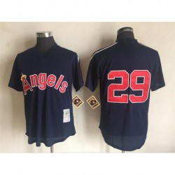 Joe 29 rod carew california angels mitchell & ness cooperstown mesh batting practice jersey - navy,los angeles angels of anahei