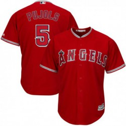 Joe 5 albert pujols los angeles angels of anaheim majestic cool base player jersey - white/Red/Gray/,los angeles angels of anah