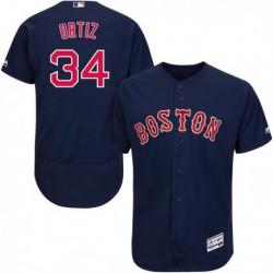 Joe Men's 34 ORTIZ Boston Red Sox Majestic Road Cool Base Jersey,shop By ML