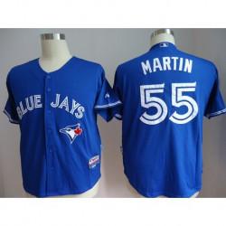 Joe Men's Toronto Blue Jays MARTIN 55 Majestic Royal Alternate Cool Base Player Jersey,shop By ML