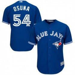 Joe men's toronto blue jays osuna 54 majestic royal alternate cool base player jersey,shop by ml
