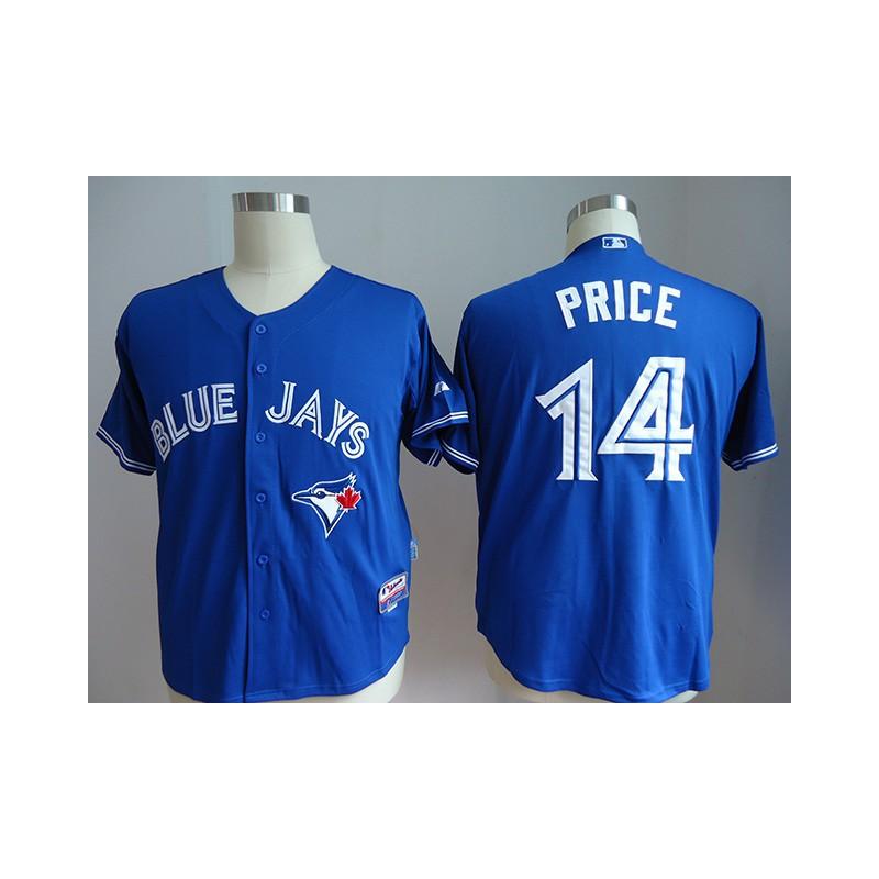 163f4fe50 MLB Jersey Number Kits,MLB Nickname Jersey Auction,JOE Men's Toronto Blue  Jays PRICE 14 Majestic Royal Alternate Cool Base Play