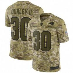 Men NFL Los Angeles Rams Gurley II Camouflage Jerse