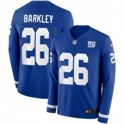 Men NFL New York Giants Barkley Long Sleeve Jerse