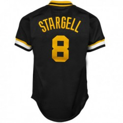 Joe 8 willie stargell pittsburgh pirates mitchell & ness 1982 authentic cooperstown collection mesh batting practice jersey - b