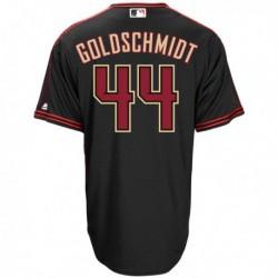 Joe 44 paul goldschmidt arizona diamondbacks majestic big & tall alternate cool base replica player jersey - black,arizona diam