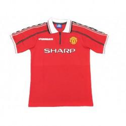 1998-1999 manchester united home 7 beckhamretro soccer jersey shir