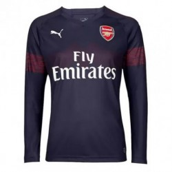 1 OZIL Arsenal Away Long Sleeve Soccer Jersey Shirt 2018-201