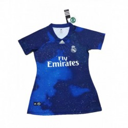 2018-2019 Real Madrid Blue EA Sports Women's Soccer Shir