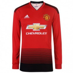 Jersi-Manchester-United-2017-Manchester-United-Kit-Manager-LINGARD-Manchester-United-Home-Long-Sleeve-Jersey-2018-2019