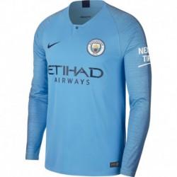 Kompany manchester city home long sleeve jersey 2018-201