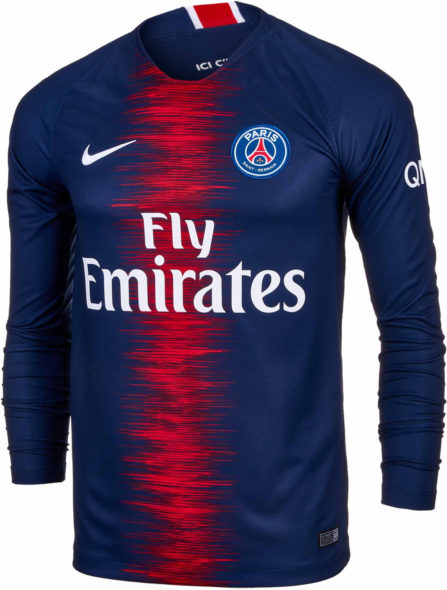 Paris Saint Germain Number 10,Who Owns Paris St Germain,CAVANI Paris Home Long Sleeve Jersey 2018-2019